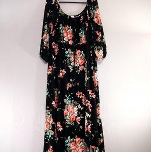 J Mode USA Floral Boutique Maxi Dress 3X